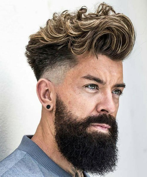 Mid Fade with Long Hair