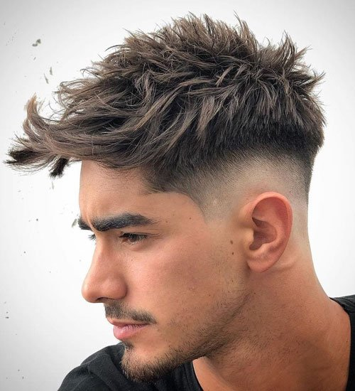 Mid Fade with Messy Hair