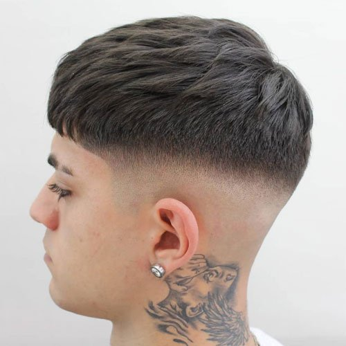 Mid Fade with Short Hair