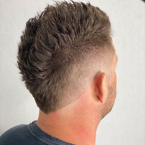 Mohawk Fade Haircut Back View