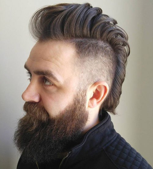 Mohawk Fade and Beard