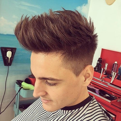 Mohawk Fade with Long Hair