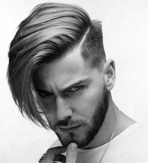 Long Asymmetrical Men's Hairstyle